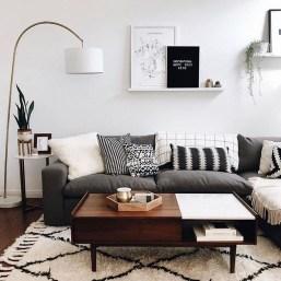 Lovely Black And White Living Room Ideas30