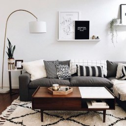 Lovely Black And White Living Room Ideas30