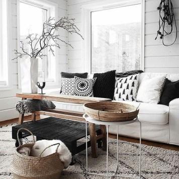 Lovely Black And White Living Room Ideas34