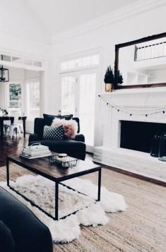 Lovely Black And White Living Room Ideas36