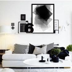 Lovely Black And White Living Room Ideas39