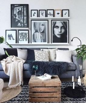 Lovely Black And White Living Room Ideas43