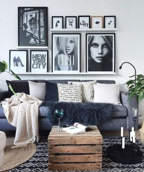 Lovely Black And White Living Room Ideas43