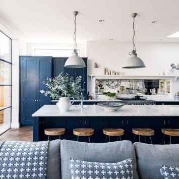 Lovely Blue Kitchen Ideas09