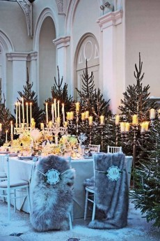 Lovely Winter Wedding Decoration22