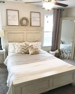 Modern White Farmhouse Bedroom Ideas36