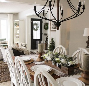 Awesome Country Dining Room Table Decor Ideas34