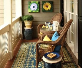 Exciting Small Balcony Decorating For Farmhouse13