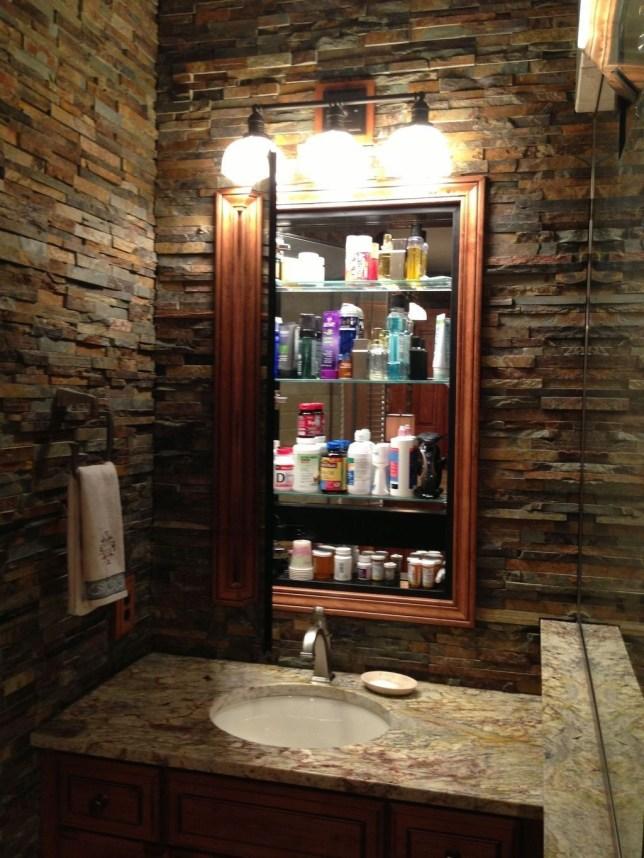 Simple Stone Bathroom Design Ideas23