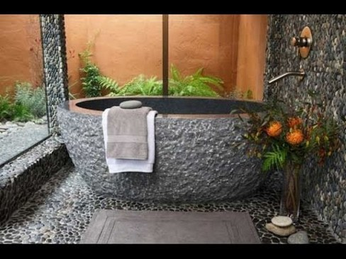 Simple Stone Bathroom Design Ideas25