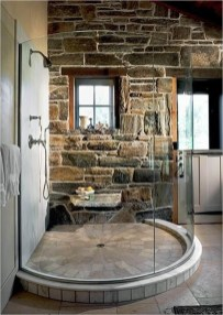 Simple Stone Bathroom Design Ideas30