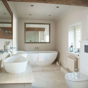 Simple Stone Bathroom Design Ideas33