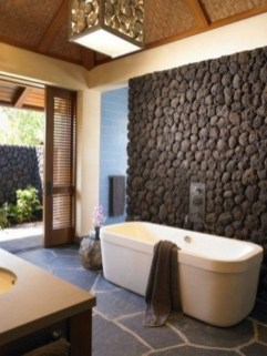 Simple Stone Bathroom Design Ideas38