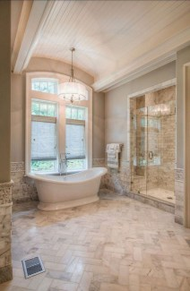 Simple Stone Bathroom Design Ideas46