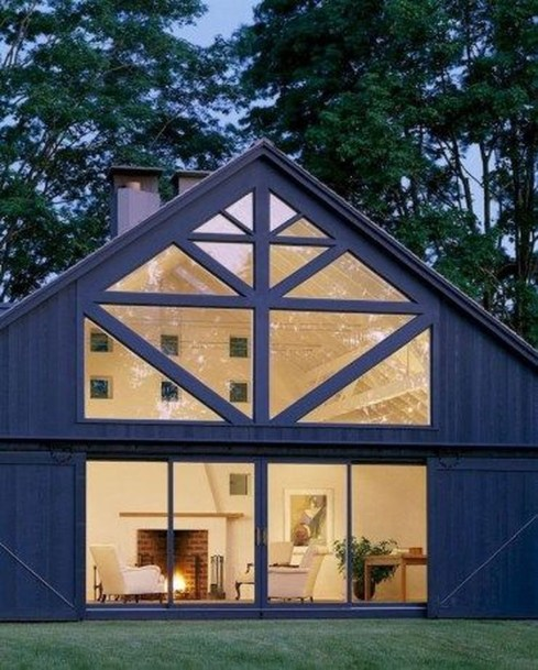Top Modern Farmhouse Exterior Design35