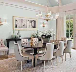 Feminine Dining Room Design Ideas08