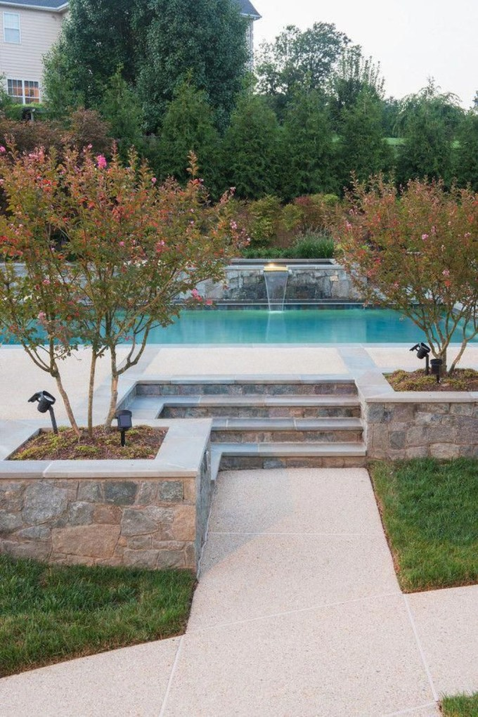 Landscaping Ideas For Backyard Swimming Pools29