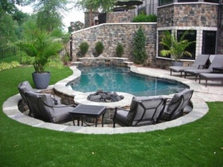 Landscaping Ideas For Backyard Swimming Pools30