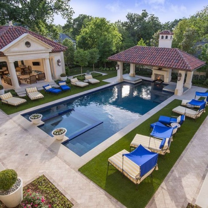 Landscaping Ideas For Backyard Swimming Pools33