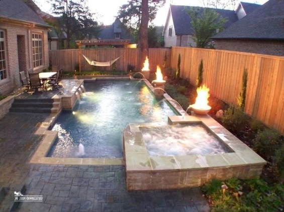 Landscaping Ideas For Backyard Swimming Pools42