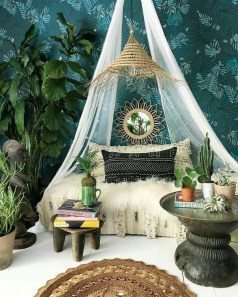 Awesome Bohemian Bedroom Tapestry Decorating Ideas13