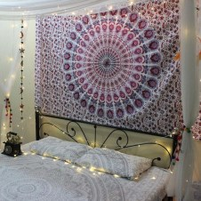 Awesome Bohemian Bedroom Tapestry Decorating Ideas23