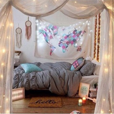 Awesome Bohemian Bedroom Tapestry Decorating Ideas34