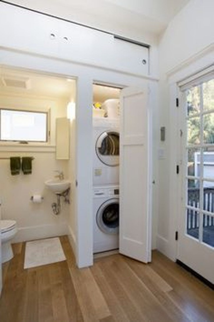 Beautiful Ideas For Tiny Laundry Spaces01