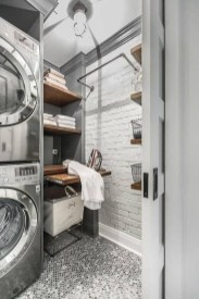 Beautiful Ideas For Tiny Laundry Spaces09