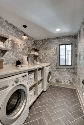 Beautiful Ideas For Tiny Laundry Spaces11