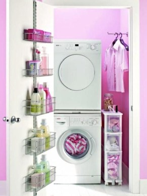 Beautiful Ideas For Tiny Laundry Spaces20