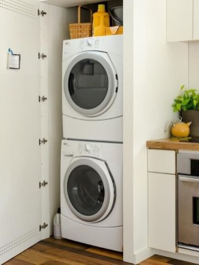 Beautiful Ideas For Tiny Laundry Spaces22