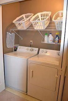 Beautiful Ideas For Tiny Laundry Spaces23