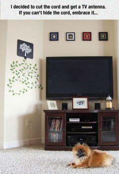 Top Fantastic Way To Hide Your Tv Diy Projects13