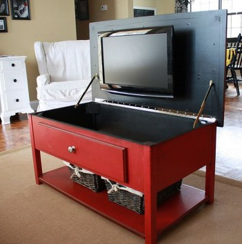 Top Fantastic Way To Hide Your Tv Diy Projects14