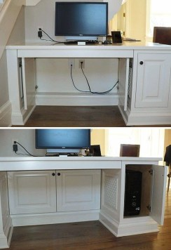 Top Fantastic Way To Hide Your Tv Diy Projects17