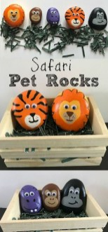 Simple Painted Rock Ideas For Garden37