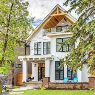 Top Modern Farmhouse Exterior Design Ideas29