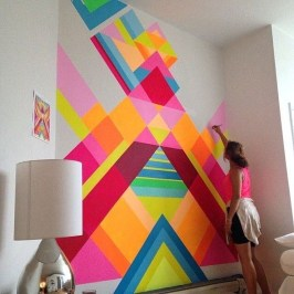 Awesome Striped Painted Wall Design And Decorating Ideas01