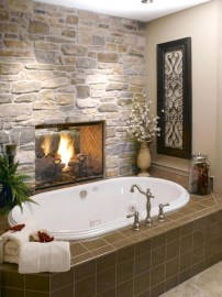 Best Natural Stone Floors For Bathroom Design Ideas31