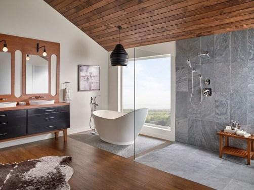 Best Natural Stone Floors For Bathroom Design Ideas33