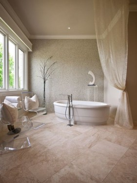 Best Natural Stone Floors For Bathroom Design Ideas39