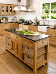 Charming Kitchen Cabinet Decorating Ideas35