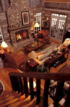 Gorgeous Log Cabin Style Home Interior Design15