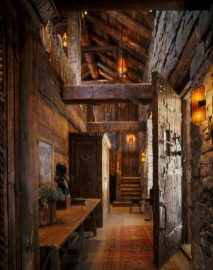 Gorgeous Log Cabin Style Home Interior Design21