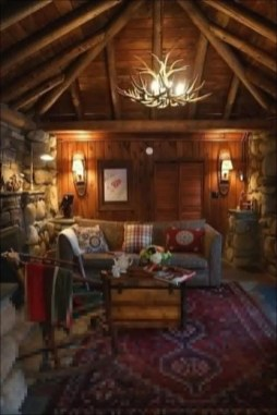 Gorgeous Log Cabin Style Home Interior Design22