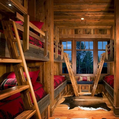 Gorgeous Log Cabin Style Home Interior Design27