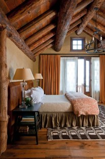 Gorgeous Log Cabin Style Home Interior Design29