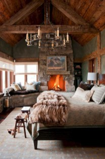 Gorgeous Log Cabin Style Home Interior Design31