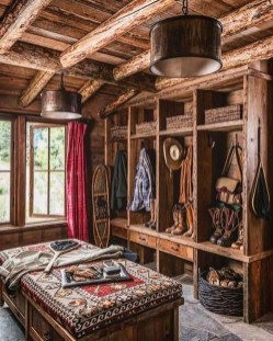 Gorgeous Log Cabin Style Home Interior Design32